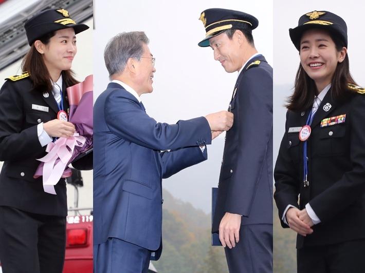 정우성·한지민, 문재인 대통령 앞 감출 수 없는 미소