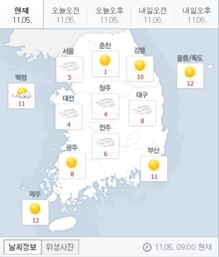 오늘 날씨(출처=네이버)