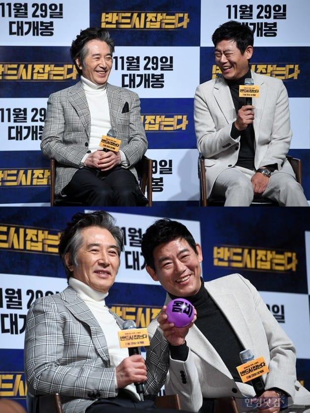 '반드시 잡는다' 백윤식 성동일 김홍선 감독 /사진=최혁 기자