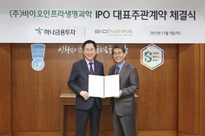 하나금융투자, 바이오인프라생명과학과 IPO 주관계약
