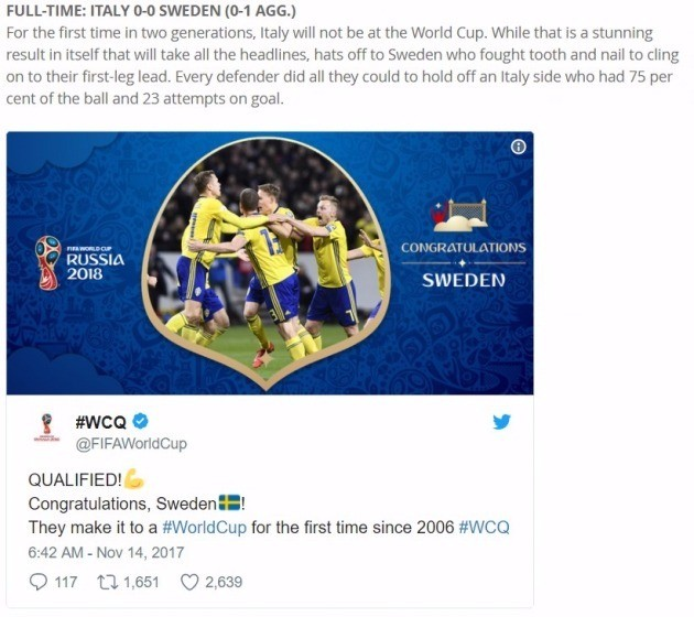 국제축구연맹(FIFA) 홈페이지 캡처
