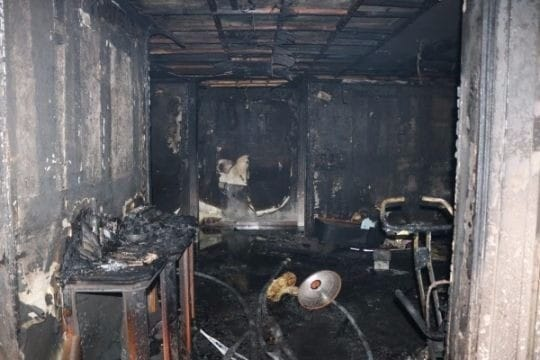 일가족 4명 사상, 전기매트서 화재 / 사진=경기 분당소방서 제공