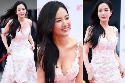 박민영, 시선 둘 곳 없는 '파격 드레스'