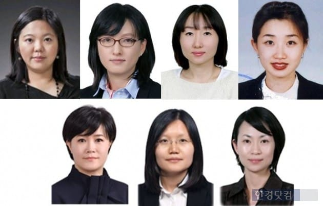 (왼쪽 위부터 시계방향)정지은 상무, 양혜순 상무,정혜순 상무, 지혜령 상무, 김승리 상무, 이금주 상무, 이정자 상무