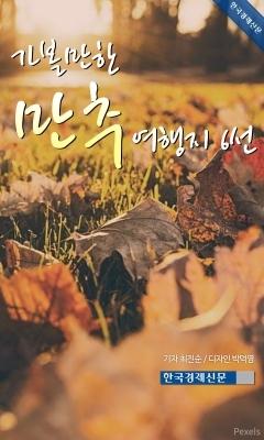 (카드뉴스) 가볼만한 만추 여행지 6선