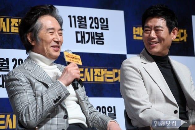 배우 백윤식, 성동일 / 사진=최혁 기자