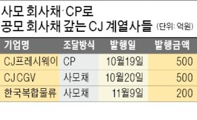 공모 회사채 시장서 사라진 CJ그룹