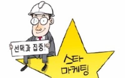 건설회사들, 단발성 스타마케팅 활발