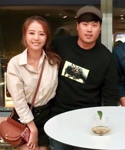 류현진과 배지현 커플의 데이트 사진 (사진=마틴킴 인스타그램)