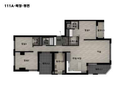 [캐슬앤파밀리에 시티④평면]테라스·복층 구조 특화 설계 도입 '활용도↑'