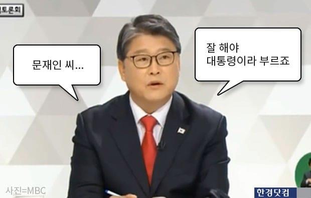 조원진 '문재인씨' 호칭 논란