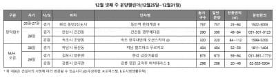 올해 마지막 분양…'동탄역 롯데캐슬' 등 전국 1467가구 청약