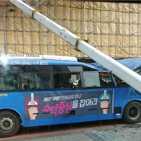 강서구 크레인 사고_사진 독자 제공