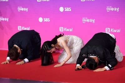 전현무-추자현-이상민, '새해 복 많이받으세요'(SBS 연예대상)