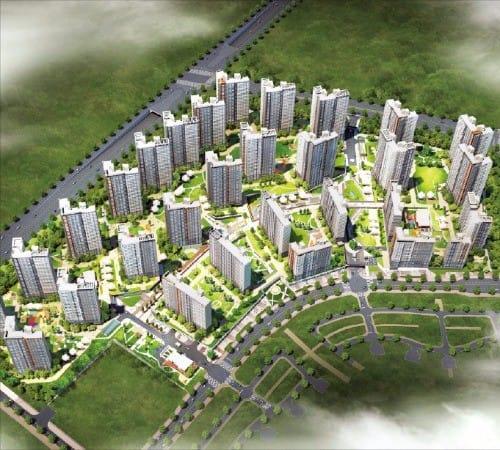 현대산업개발이 경기 파주시 운정신도시에서 분양하는 '운정신도시 아이파크' 조감도. 현대산업개발  제공