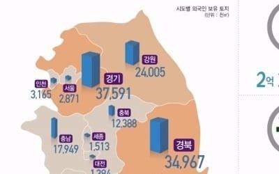 외국인 보유 국내 토지 234㎢… 6개월 만에 0.3%증가