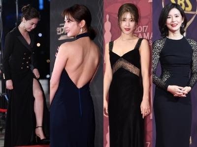 女배우들, 블랙드레스로 강조한 뒤태·각선미