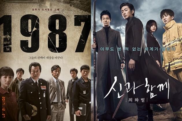 영화 '1987' '신과함께' 관객수