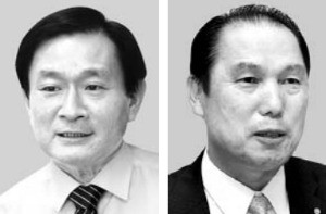 정회동 전 KB투자증권 사장(왼쪽), 황성호 전 우리투자증권 사장.