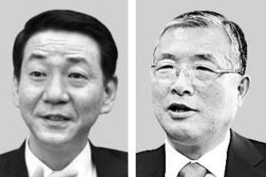 권용원 키움증권 사장(왼쪽), 손복조 토러스투자증권 회장.