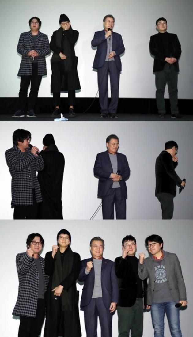 문재인 대통령 영화 '1987' 관람 /사진=청와대 사진기자단