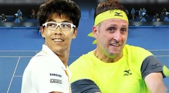 2018 호주 오픈 8강전 정현 vs 테니스 샌드그렌 / YTN 방송화면