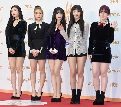 레드벨벳, 오늘도 미모는 열일중…'예쁘다~예뻐~' (골든디스크)