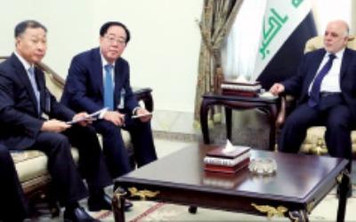 최광호 한화건설 대표, 이라크 총리와 면담