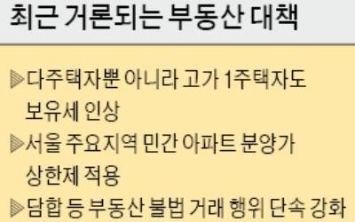 민간 아파트 분양가 상한제·서울내 택지개발 등 거론
