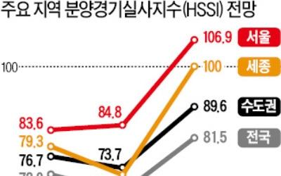 서울·세종 분양시장 낙관론 '우세'