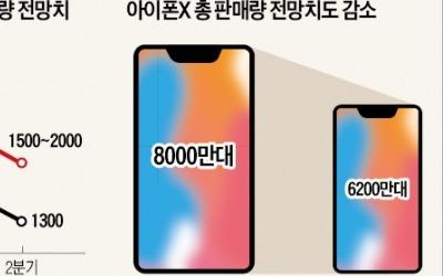 애플 아이폰X, 판매 부진에 조기 단종설