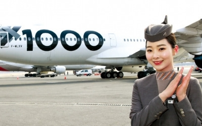 에어버스 최신 민간항공기 A350-1000 공개