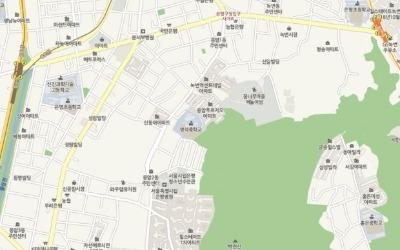 백련산 자락 이웃단지 '녹번역 센트레빌', '응암 푸르지오'