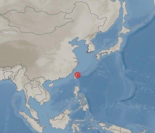 대만 지진 (사진=기상청 홈페이지)
