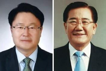 송기석 국민의당 의원(왼쪽)과 박준영 민주평화당 의원