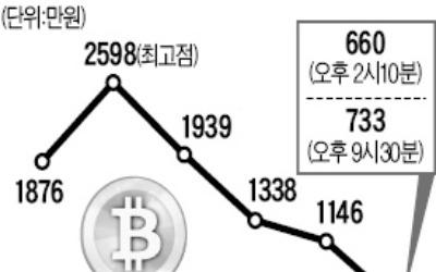 비트코인 또 '비틀'… 한때 600만원대 추락
