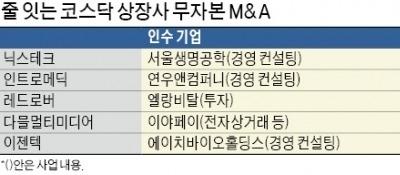 코스닥 시장서 '무자본 M&A' 또 기승