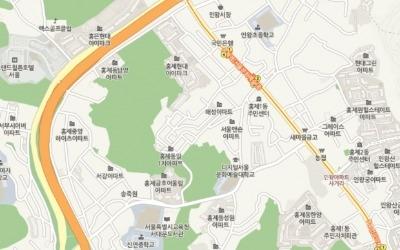 서대문구 숲세권 아파트 '홍제금호어울림'