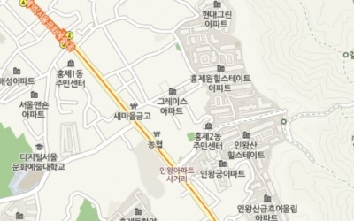 지하철 3호선 무악재역 역세권 '홍제한양아파트'