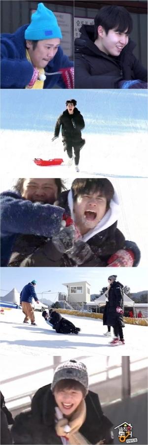 '발칙한 동거' 강다니엘X옹성우X김재환, 눈밭 위 '꾸러기 청춘즈' 변신