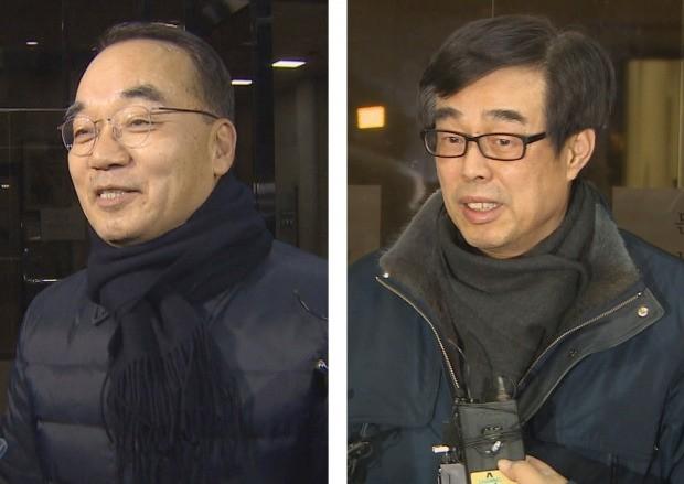 검찰 조사 마치고 귀가하는 박재완과 장다사로 /연합뉴스