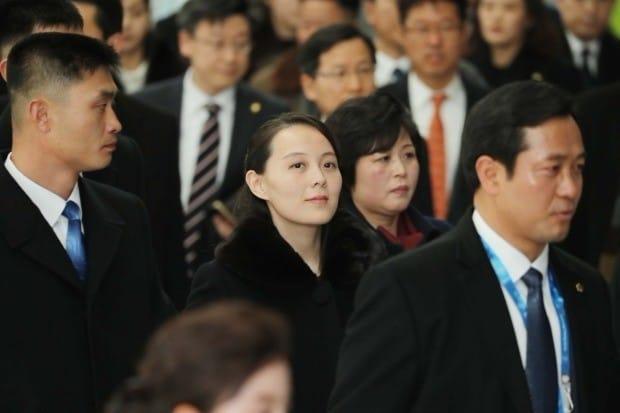 9일 김여정 노동당 중앙위 제1부부장이 KTX 인천공항1터미널역으로 이동하고 있다. / 사진=연합뉴스