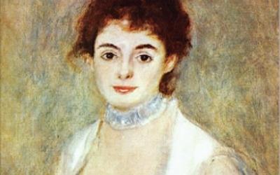 르누아르 '앙리오 부인의 초상'