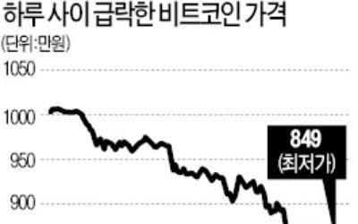 춘래불사춘 가상화폐… 비트코인 800만원대 추락