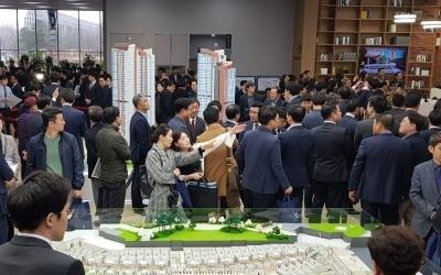 '광교 더샵 레이크시티' 모델하우스 내방객 몰려