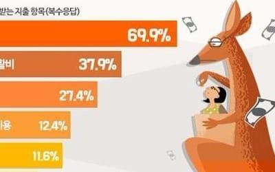 """직장인 37% """"나는 캥거루족""""… 월평균 30만원 '부모 지원'"""