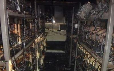 비트코인 채굴장에서 야간에 불…2억4천만원 피해