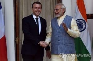 마크롱 인도 방문…국방·경제·에너지 등 전방위 협력 논의