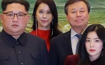 김정은 위원장 곁에서…레드벨벳 아이린 '찰칵'…'나머지 멤버들은 어디?'