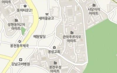 까치산공원 '숲세권'… 봉천동 '관악푸르지오'